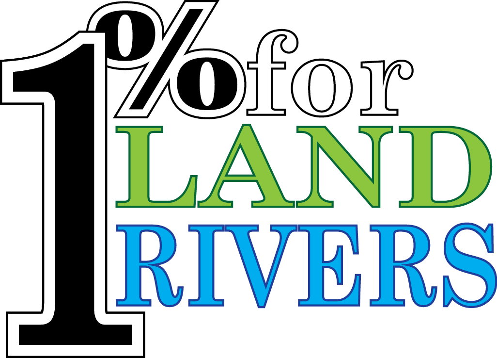 1 percent for land and rivers