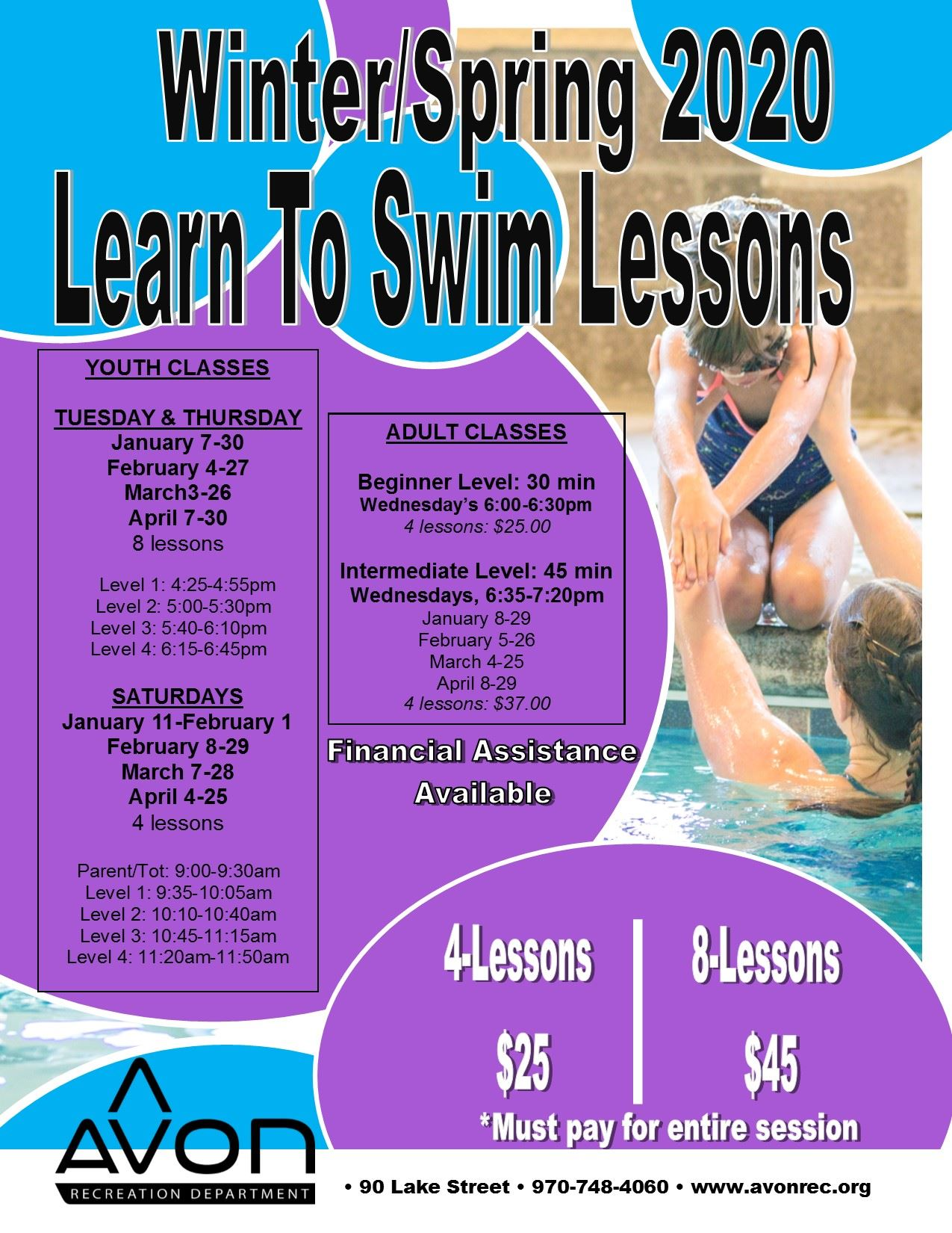 Group Swim Lessons Winter-Spring 2020